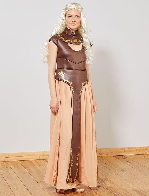 Déguisement princesse médiévale                             marron