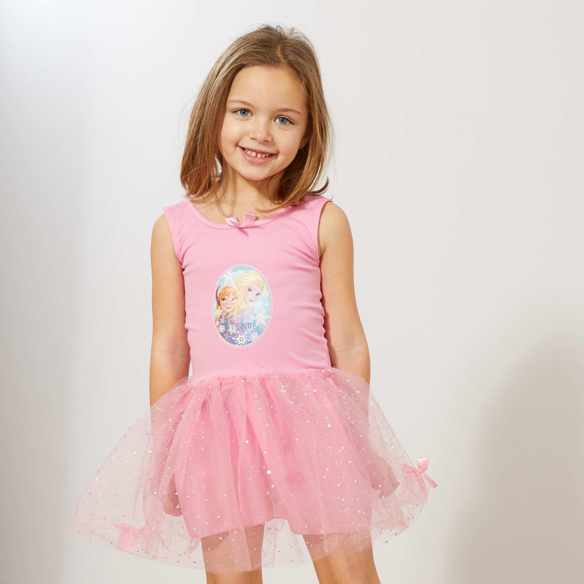 Couleur : bleu, rose, ,, - Taille : 5/6A, 3/4A, ,,La robe parfaite pour nos petites princesses fan de la 'Reine des Neiges' ! - Robe de