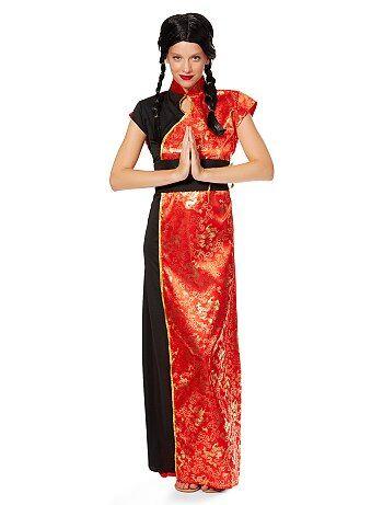 Déguisement Robe Chinoise Traditionnelle Femme - Kiabi
