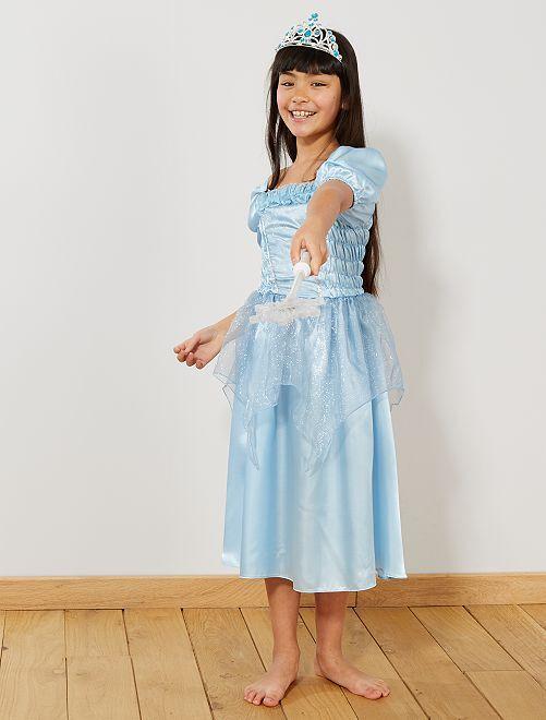 Déguisement robe de princesse                                          bleu