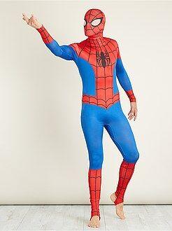 Homme Déguisement 'Spiderman' seconde peau avec cagoule