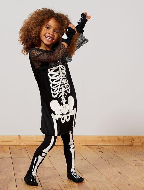 Déguisement squelette                             noir/blanc Enfant