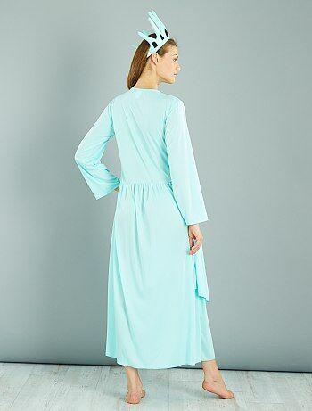 déguisement 'statue de la liberté' femme - bleu - kiabi - 20,00€