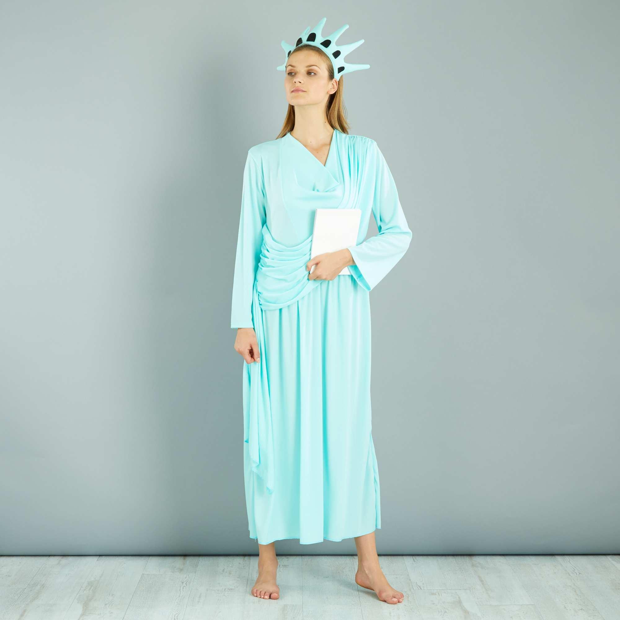 d guisement 39 statue de la libert 39 femme bleu kiabi 20 00. Black Bedroom Furniture Sets. Home Design Ideas