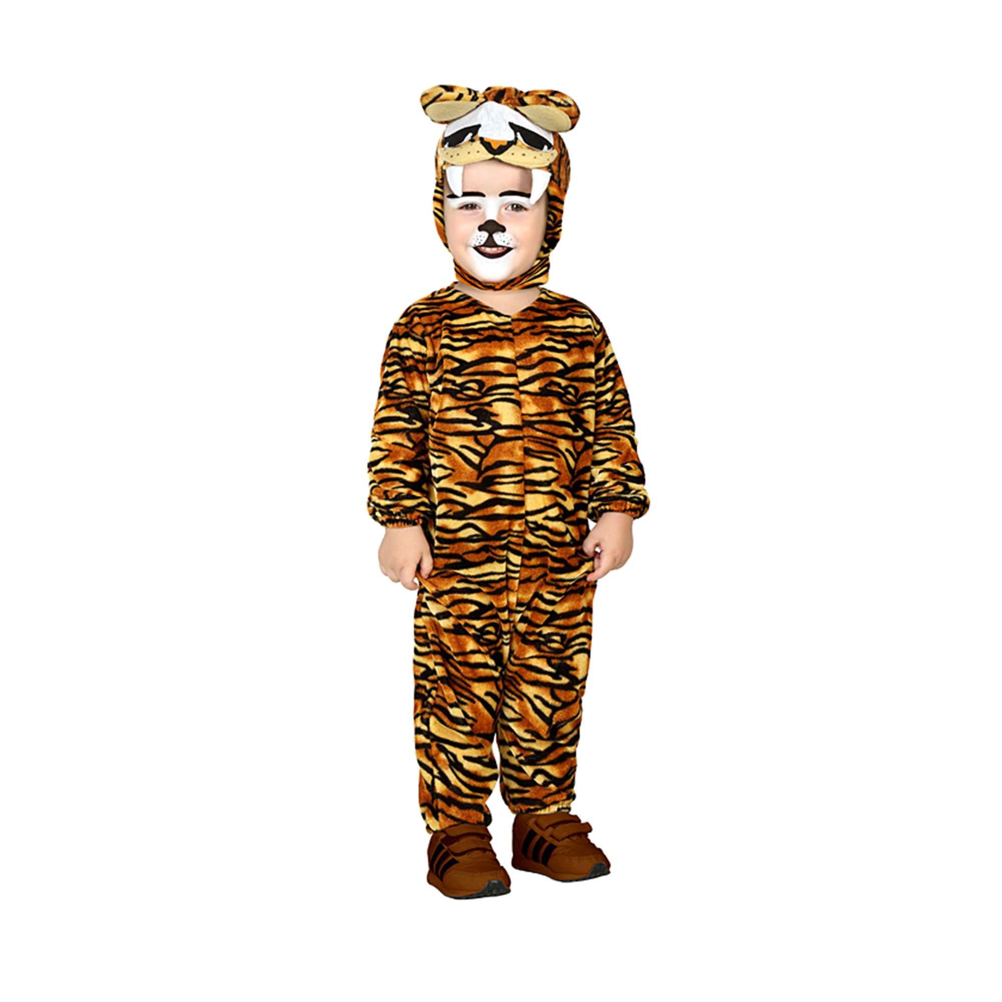 Couleur : marron/jaune, , ,, - Taille : 0/6M, 6/12M, 12/24M,,Il va adorer jouer les terreurs de la jungle ! - Combinaison en polyester - Motifs