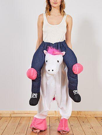 Femme - Déguisement trompe-l'œil cavalière sur licorne - Kiabi