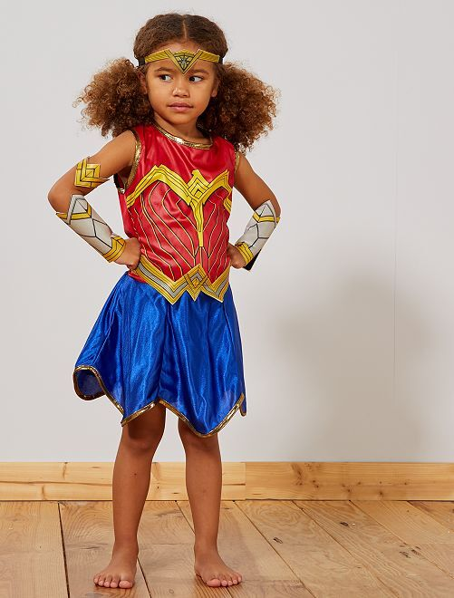 Déguisement 'Wonder Woman'                             bleu Enfant