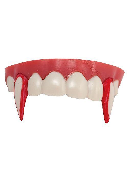 Dents de vampire ensanglantées                             rouge