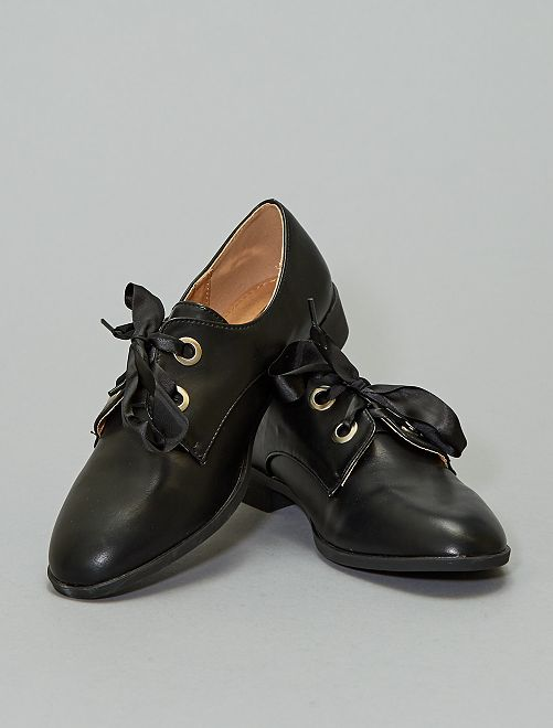 Derbies à lacets ruban                             noir