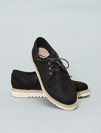46707cdc4daaa7 Derbies femme, chaussures à lacets, godillot, richelieu femme ...