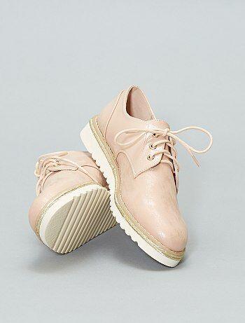 040e1ff0a6ede Soldes chaussures femme à lacets   derbies Femme   Kiabi