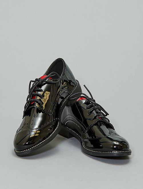 Derbies bicolores vernies                             noir