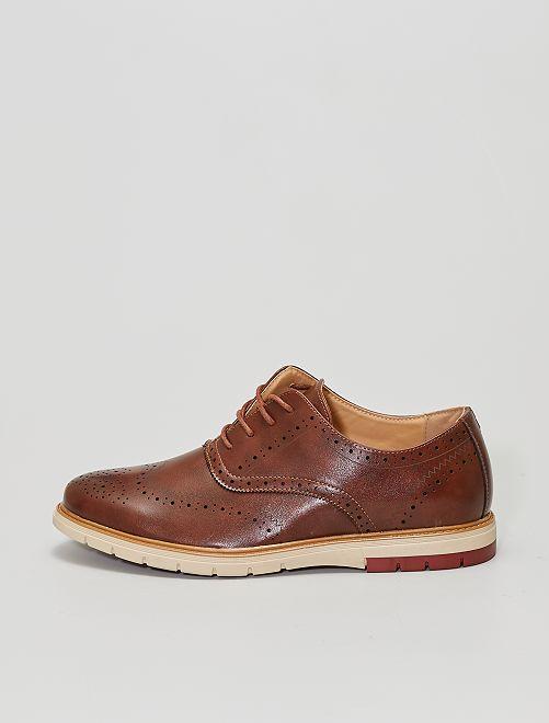 Derbies style richelieu                             brun