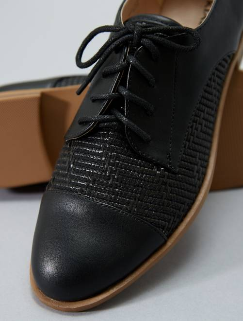 Derbies texturé                     noir
