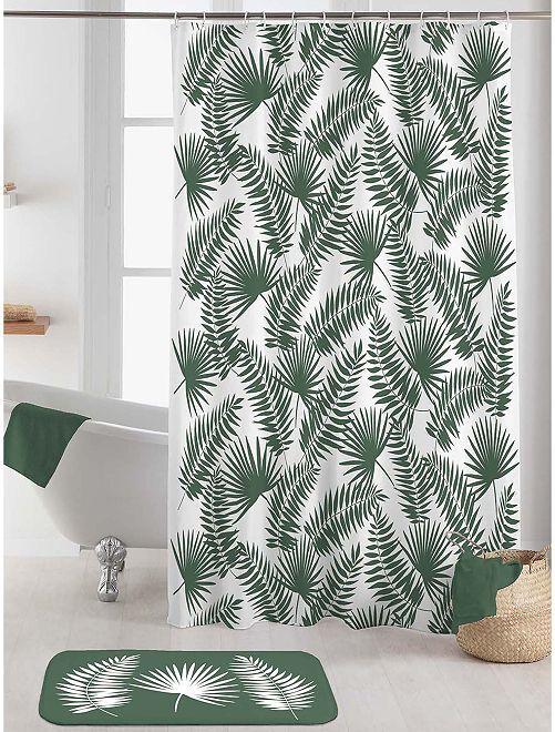 Dimensions : 180 x 200 cm                                         blanc/vert