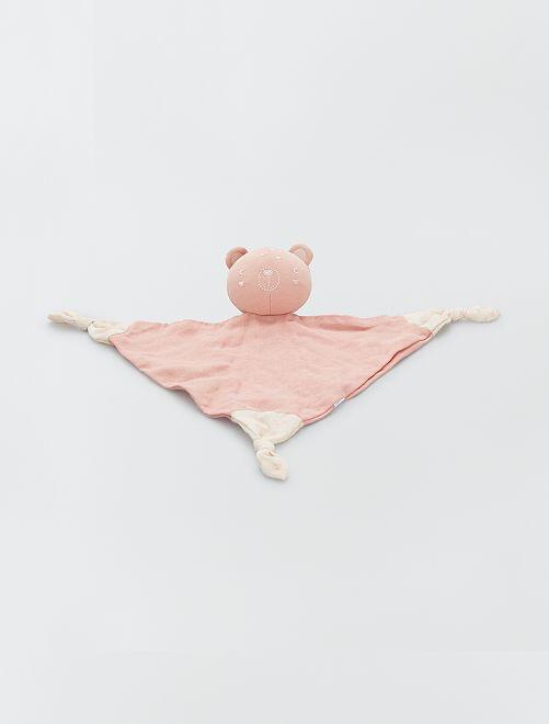 Doudou en lange éco-conçu                                                                 rose