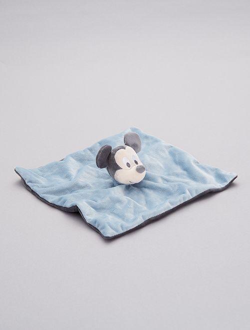 Doudou en velours 'Mickey Mouse'                             bleu gris pâle
