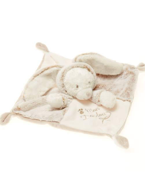 Doudou lapin ours                             beige/blanc