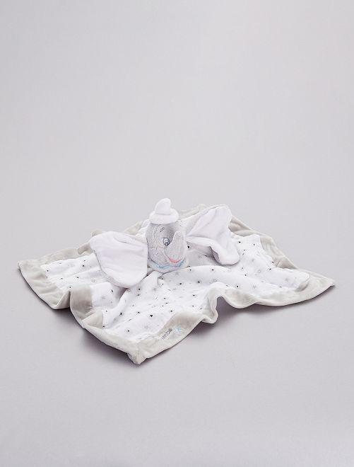 Doudou mouchoir 'Dumbo'                             blanc/gris