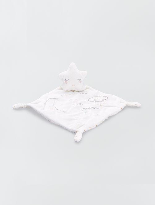 Doudou mouchoir étoile                             beige