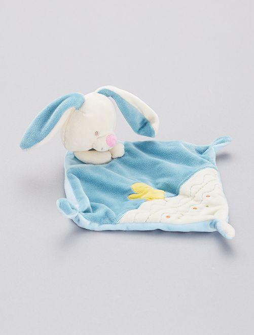 Doudou mouchoir 'lapin'                                         bleu
