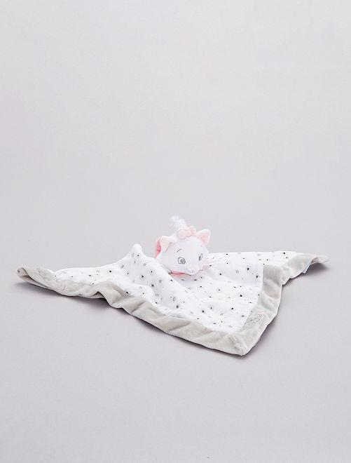 Doudou mouchoir 'Marie'                             rose/gris