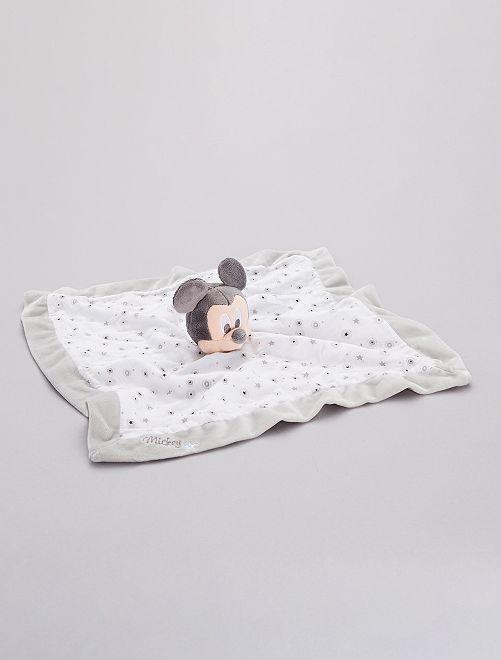 Doudou mouchoir 'Mickey'                             blanc/gris