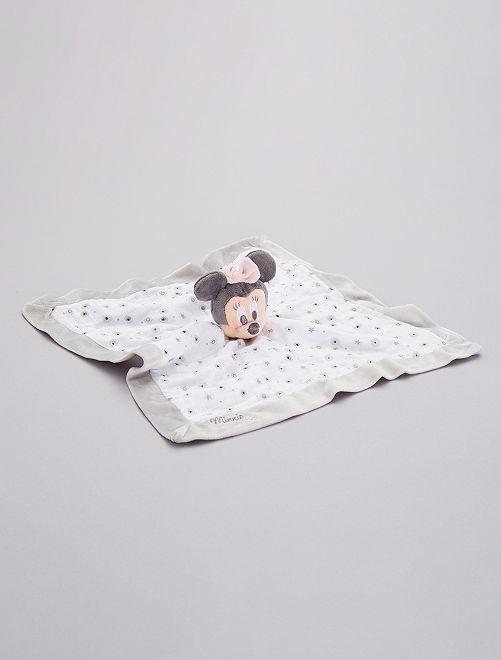 Doudou mouchoir 'Minnie'                             gris/blanc
