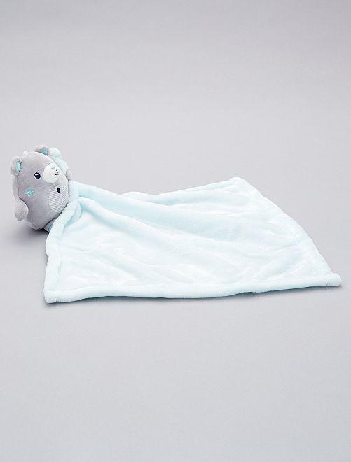 Doudou mouchoir 'ours'                                                                             gris/bleu clair