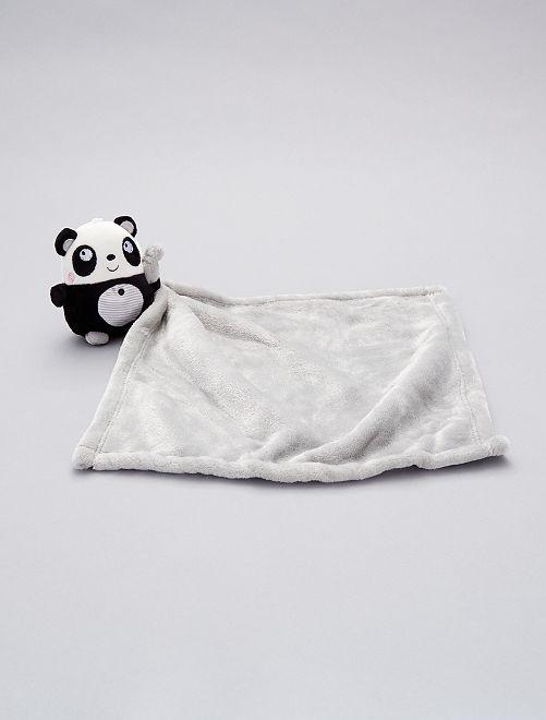 Doudou mouchoir 'panda'                                                                                         noir/gris/blanc