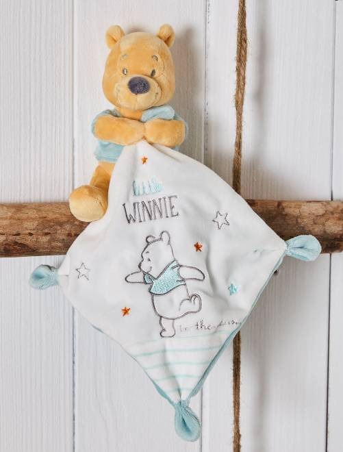 Doudou velours 'Winnie l'ourson' Bébé fille - blanc/vert - Kiabi - 9,00€