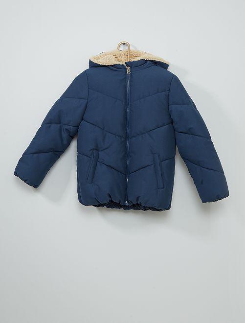 Doudoune à capuche                             bleu