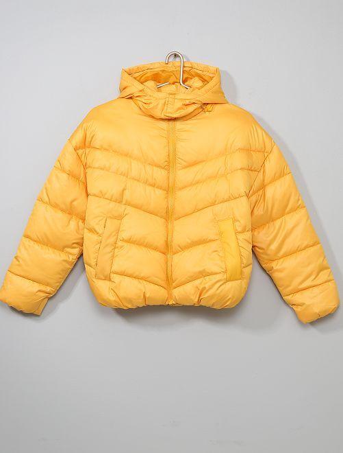 Doudoune à capuche                                                     jaune Fille adolescente
