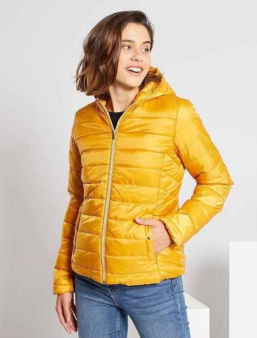 Doudoune déperlante à capuche                                                                                                                             jaune