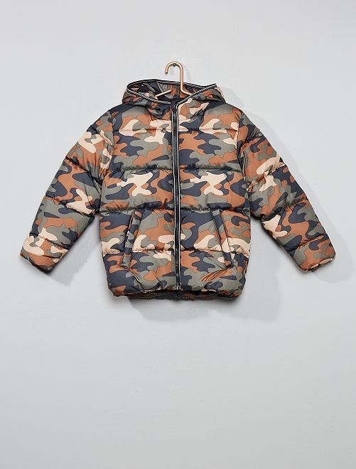 Doudoune doublée polaire                                                                                         kaki camouflage Garçon