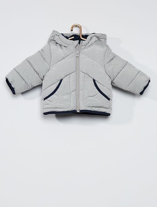 Doudoune éco-conçue doublée polaire                                                                 gris chiné