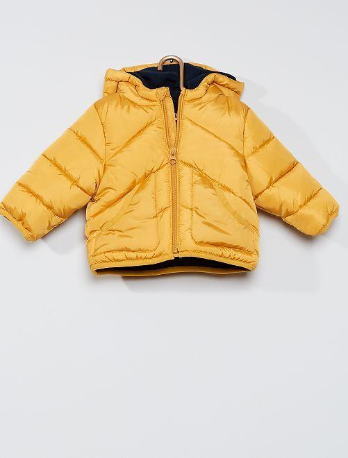Doudoune éco-conçue doublée polaire                                                                 jaune