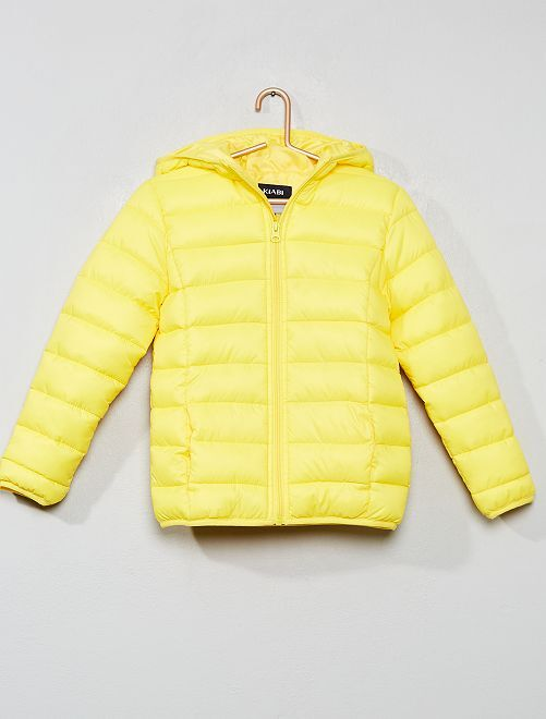 Doudoune légère à capuche                                         jaune