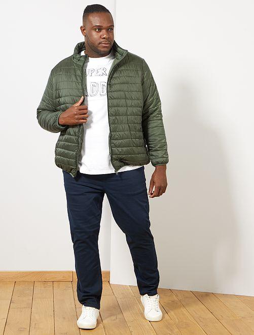 Doudoune légère Eco-conception                                         vert thym Grande taille homme