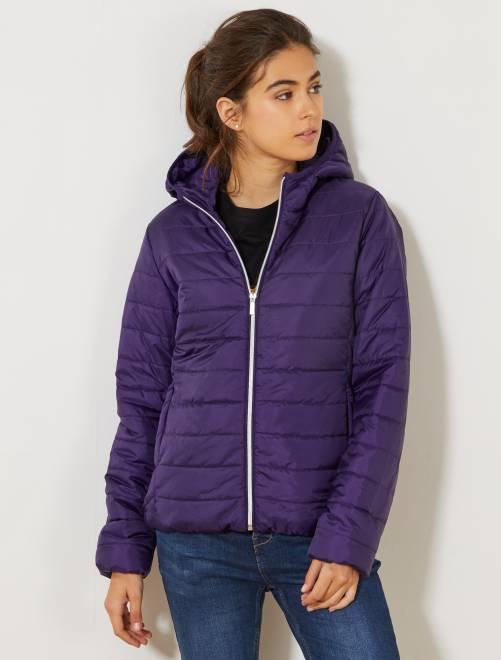 Doudoune légère matelassée                                                                                                                 violet Femme