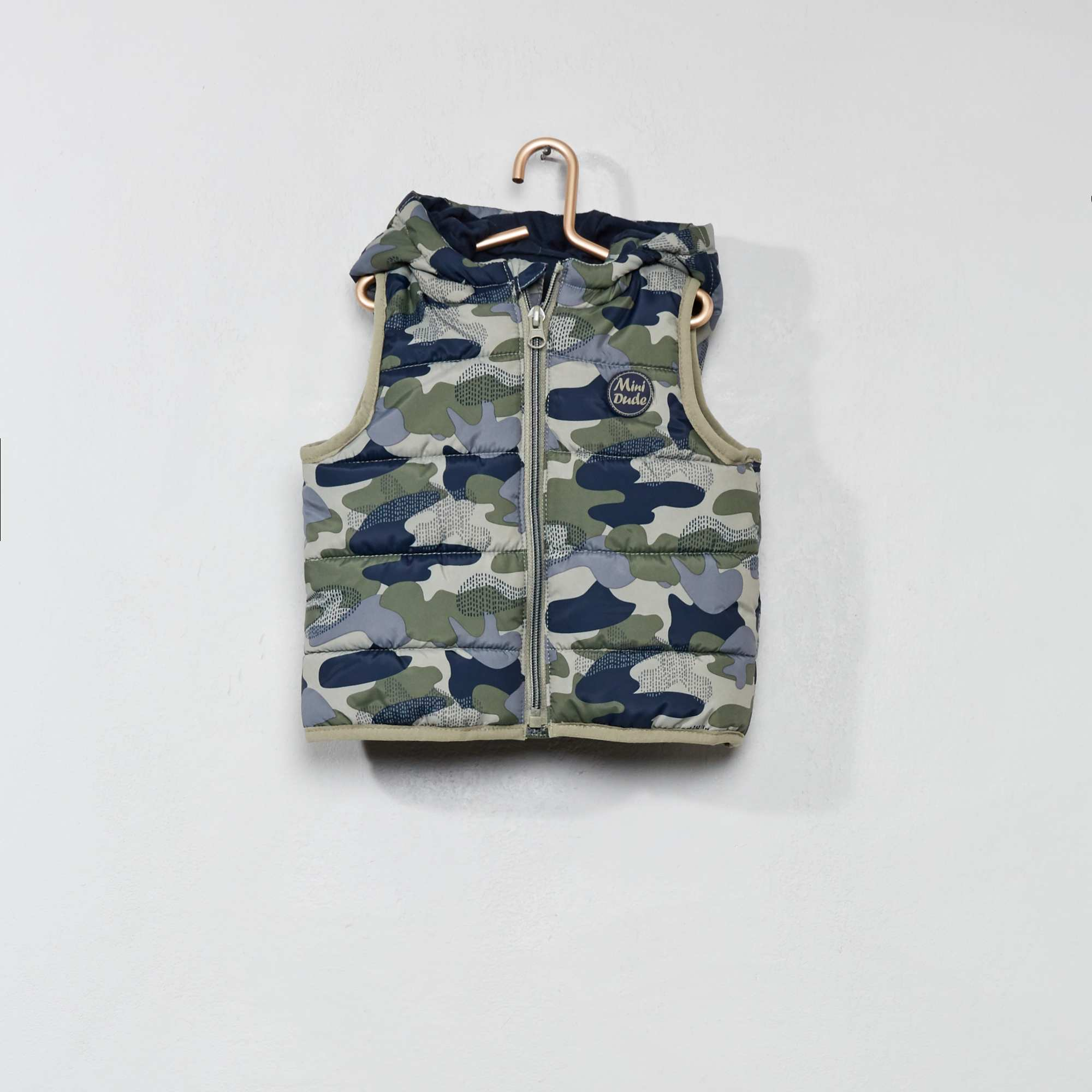 dd6a2fc1dd4 Doudoune sans manches Bébé garçon - camouflage - Kiabi - 8