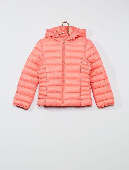 Doudoune unie matelassée                                             rose