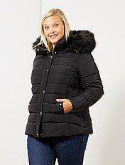 Doudoune zippée, fine, à capuche Grande taille femme | Kiabi