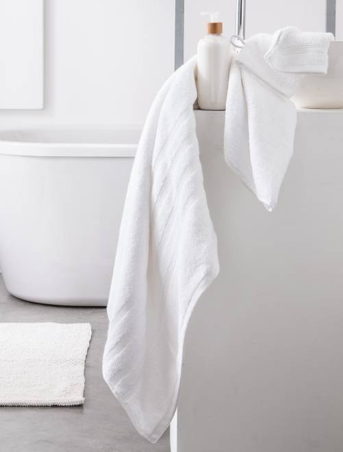 Drap de bain 70 x 130 cm 500gr                                                                                                                                                     blanc Linge de lit