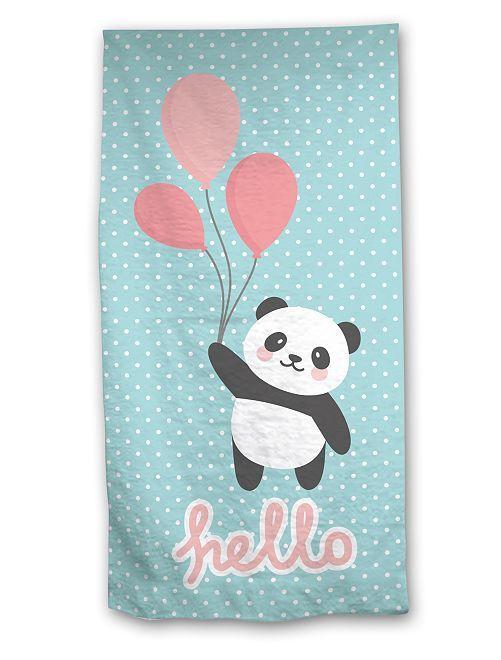 Drap de bain 'Panda'                             bleu