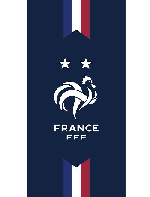 Drap de plage 'France FFF'                             bleu marine
