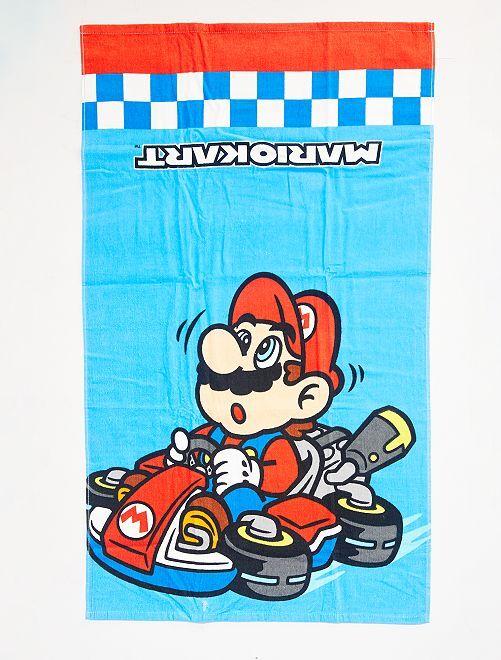 Drap de plage 'Mario Kart'                             bleu