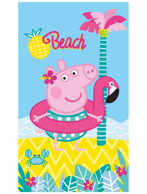 Drap de plage 'Peppa Pig'                             rose/bleu