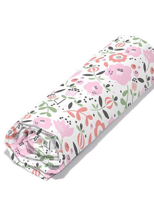 Drap housse 1 personne éco-conçu                             rose