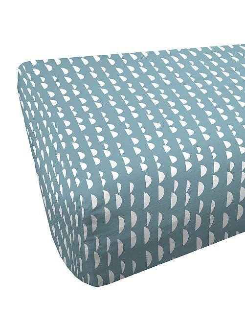 Drap housse 90 x 200 cm                             bleu